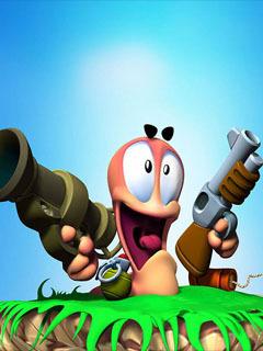 Worms Gun Mobile Wallpaper