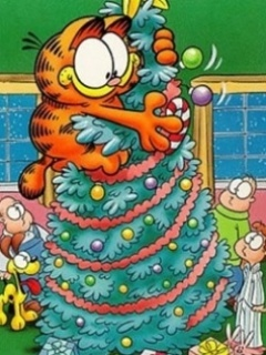 Xmas Garfield Mobile Wallpaper