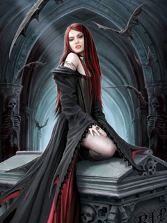 Vampires Lair Mobile Wallpaper