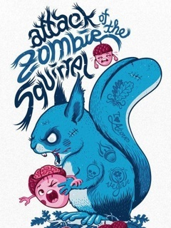 Zombie Squirrel Mobile Wallpaper