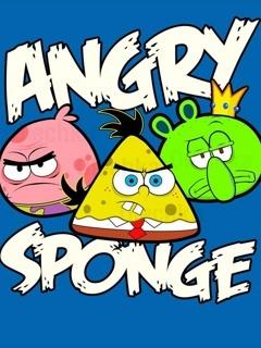 Angry Sponge Mobile Wallpaper