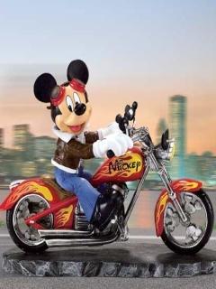 MickeyOn Bike Mobile Wallpaper