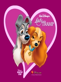 Lady And Tramp Mobile Wallpaper