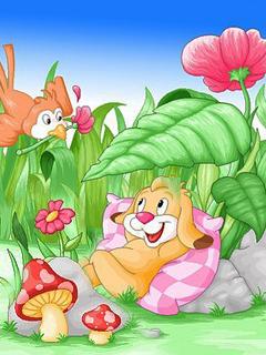 Happy Friends Mobile Wallpaper