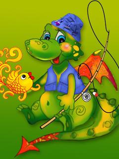 Cuty Dragon Mobile Wallpaper