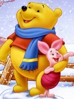 Pooh Happy Mobile Wallpaper
