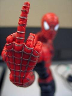 Spiderman Finger Mobile Wallpaper