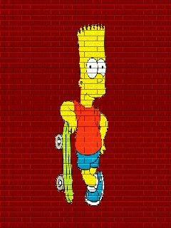 Bar Simpson Skate Mobile Wallpaper