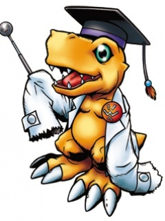 Agumon Be Teacher Mobile Wallpaper
