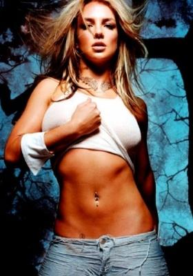 Britney Spears Up Tshirt Mobile Wallpaper