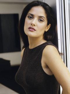 Salma Hayek Posing Mobile Wallpaper