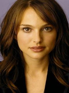 Natalie Portman Cute Face Mobile Wallpaper