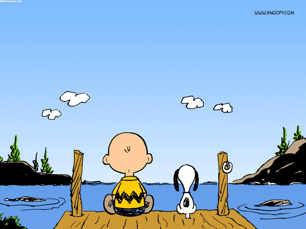 Charlie And Snoopy Mobile Wallpaper