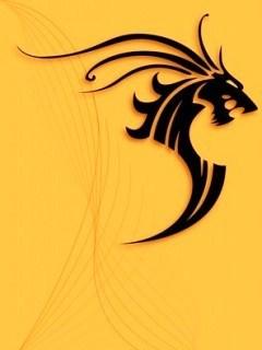 Tribal Dragon  Mobile Wallpaper