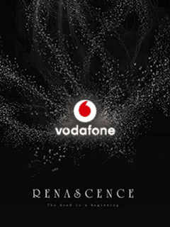 Vodafone Black Logo Mobile Wallpaper