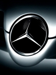 Mercedies Logo Mobile Wallpaper