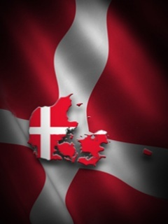 Denmark Flag Mobile Wallpaper