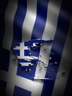 Greece Flag Mobile Wallpaper