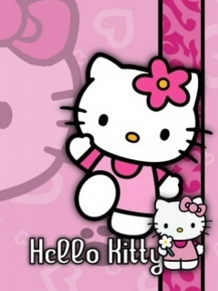 Hello Kitty Flower Mobile Wallpaper