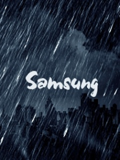 Samsung Rain  Mobile Wallpaper