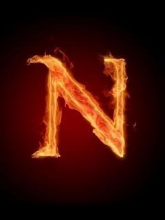 Letter Fire N Mobile Wallpaper