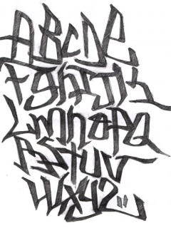 Graffiti Alphabet Mobile Wallpaper