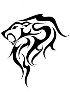 Tribal Lion Mobile Wallpaper