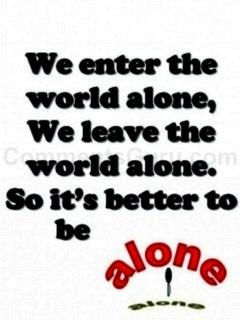 Better Be Alone Mobile Wallpaper