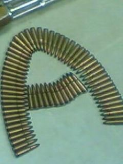 A With Gun Mobile Wallpaper
