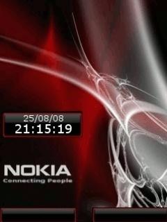 Animated Nokia Clock Mobile Wallpaper