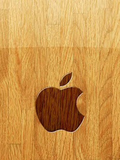 Apple Wood Mobile Wallpaper