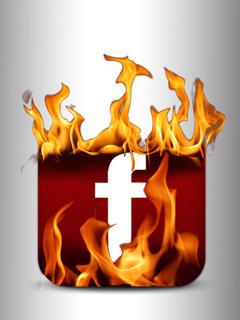 Facebook Fire Logo Mobile Wallpaper