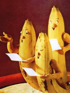 Banana Choral Mobile Wallpaper