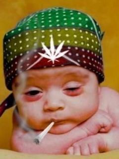 Baby Smoking Mobile Wallpaper