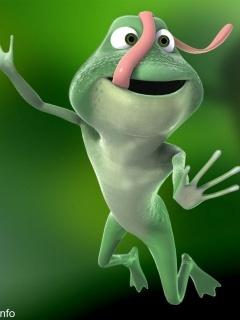 Funny Frog Mobile Wallpaper