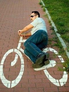 Man Ride Cycle Mobile Wallpaper