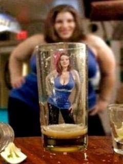 Alcohol - Girl Mobile Wallpaper