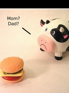 Cow Parents Mobile Wallpaper