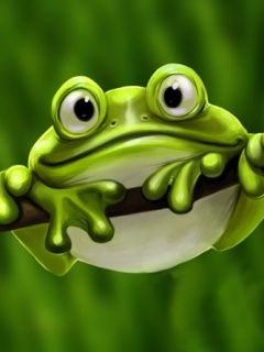 Cute Frog Mobile Wallpaper