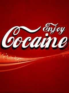 Enjoy Cocaine Mobile Wallpaper