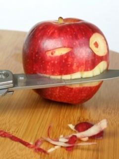 Apple Teeth Mobile Wallpaper