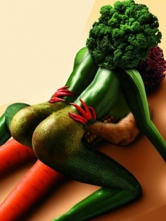 Funny Vegetables Mobile Wallpaper