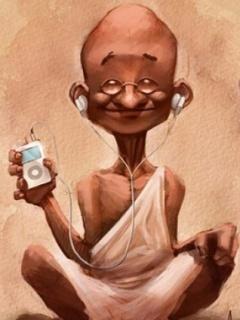 Gandhi Mobile Wallpaper