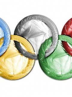 Olympic Condoms Mobile Wallpaper