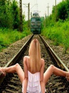 Train Or Girl Mobile Wallpaper