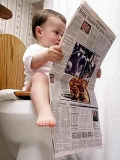 Child Read News Paper Mobile Wallpaper