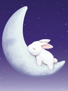 Sleeping Bunny Mobile Wallpaper
