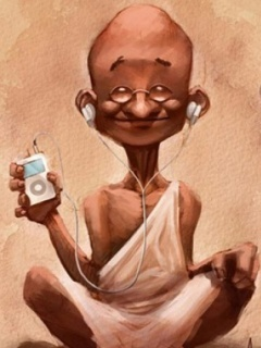 Indian Ghandi Mobile Wallpaper