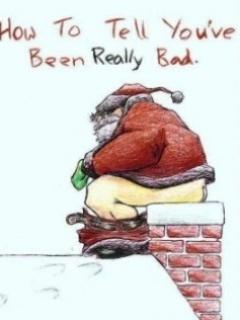 Bad Santa Mobile Wallpaper