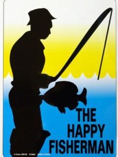 Happy Fisherman Mobile Wallpaper